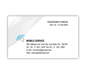 Business Card printing Mobile Shop