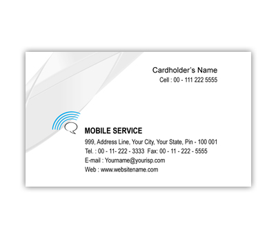 Online Business Card printing Mobile Shop