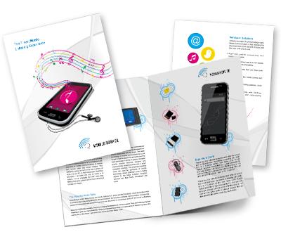 Online Brochures One Fold printing Mobile Shop