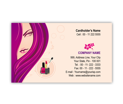 Online Business Card printing Beauty Shop
