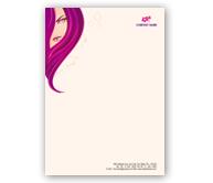 Online Letterhead printing Beauty Shop