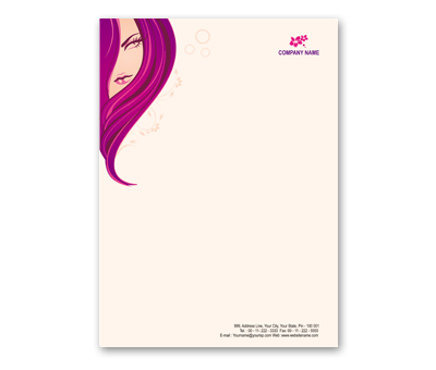 Online Letterhead printing Beauty Shop