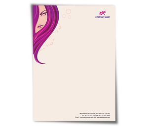Letterhead printing Beauty Shop