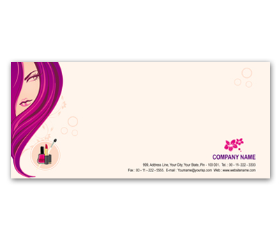 Online Envelope printing Beauty Shop