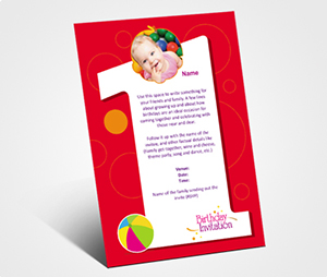 Invitations printing Kids Birthday Party