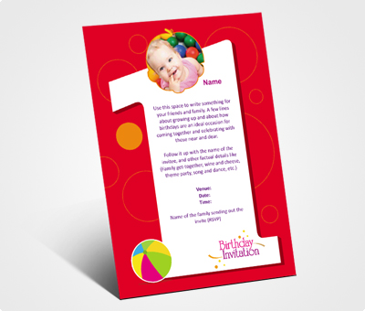 Online Invitations printing Kids Birthday Party