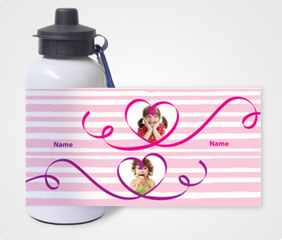 Online Water Bottles printing Kids and Hearts