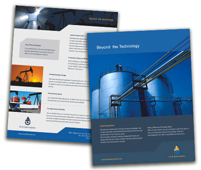Online Single Page Brochures printing Oil Company