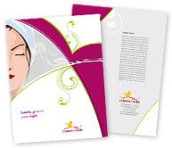 Online Brochure printing Beauty Salon