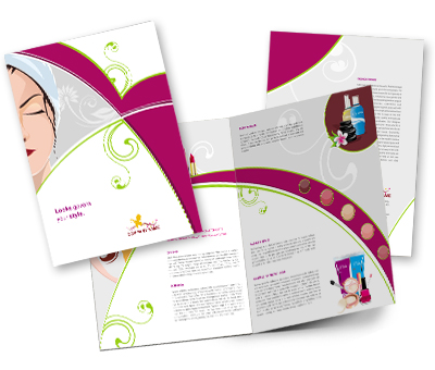 Online Brochures One Fold printing Beauty Salon