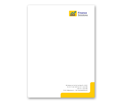 Online Letterhead printing Financial Services