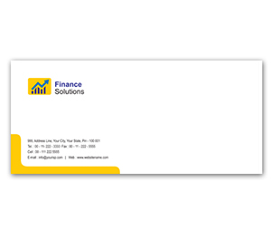 Envelope printing Financial Services