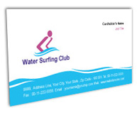 Online Business Card printing Water Surfing Club