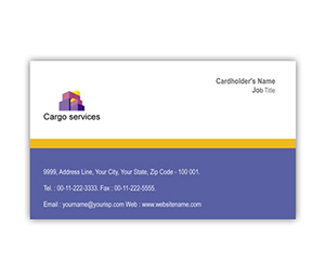 Business Card printing Cargo Services