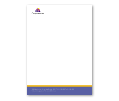 Online Letterhead printing Cargo Services