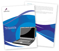 Online Brochure printing Laptop House