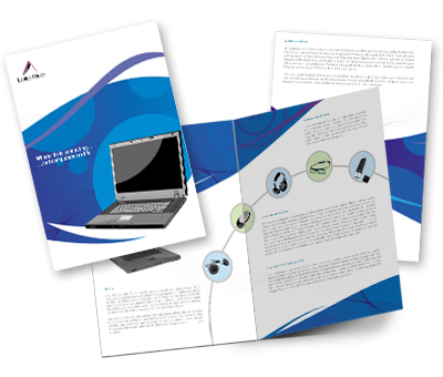 Online Brochures One Fold printing Laptop House