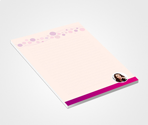 Notepads printing Pink Balloons and Photo