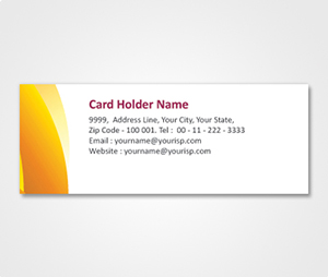 Address Labels printing White Stickers With Orange Shade