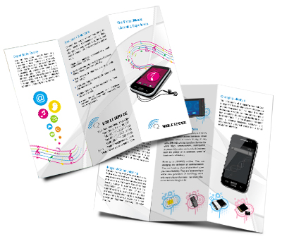 Online Brochures Two Fold printing Mobile Shop