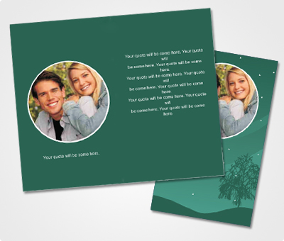 Online Note Cards printing Engagement Announcement