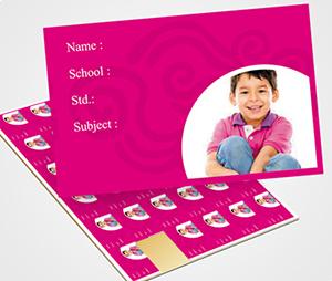 School Note Book Label printing Pink Pattern