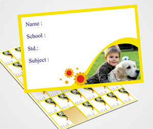School Note Book Label printing Sunfower