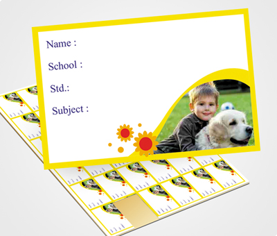 Online School Note Book Label printing Sunfower