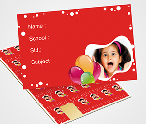 School Note Book Label printing Balloons