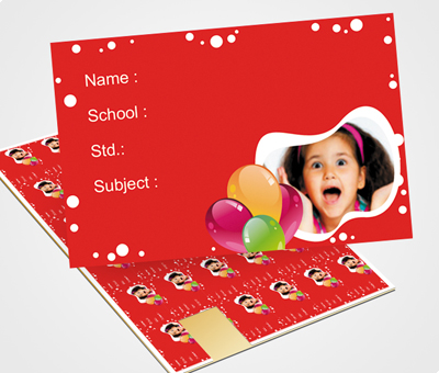Online School Note Book Label printing Balloons