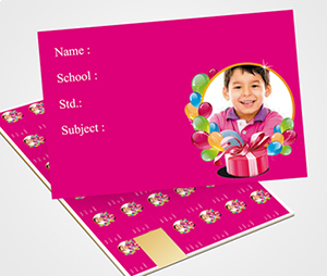 School Note Book Label printing Birthday Gift