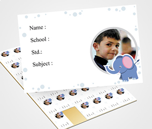 School Note Book Label printing Elephant Graphic