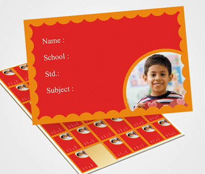 Online School Note Book Label printing Circular Border