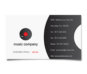 Business Card printing Music Videos