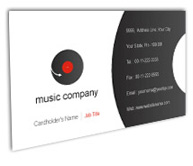 Online Business Card printing Music Videos