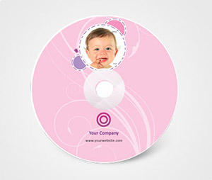 CD / DVD Stickers printing Baby Photos