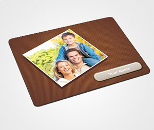 Mouse Pads printing Metallic Background With Family Photo