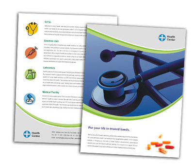 Online Single Page Brochures printing Health Centers