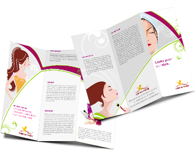 Online Brochures Two Fold printing Beauty Shop