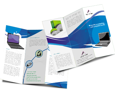 Online Brochures Two Fold printing Laptop House