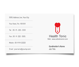 Business Card printing Blood Bank