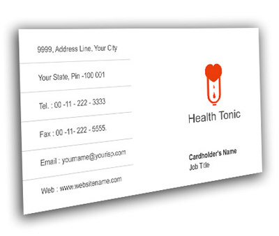 Online Business Card printing Blood Bank