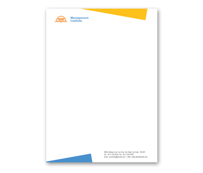 Online Letterhead printing Management Institute