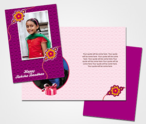 Greeting Card printing Happy Rakshabandhan