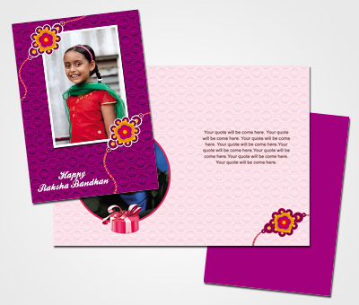 Online Greeting Card printing Happy Rakshabandhan