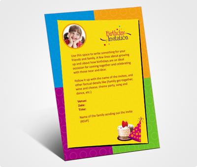 Online Invitations printing Birthday Party Invitation