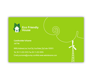 Business Card printing Eco Friendly House