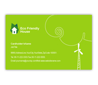 Online Business Card printing Eco Friendly House