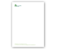 Online Letterhead printing Eco Friendly House