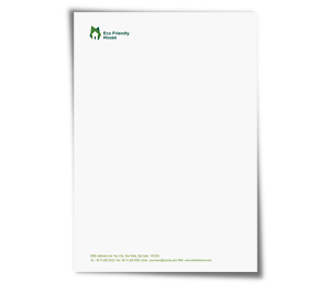 Letterhead printing Eco Friendly House
